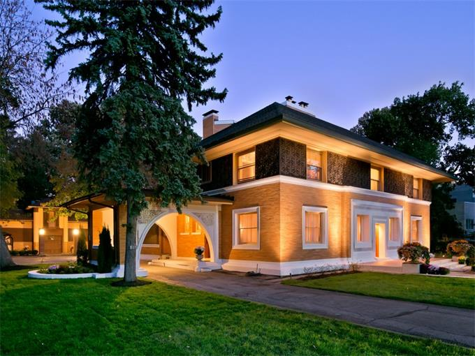 Frank Lloyd Wright's William Winslow House, William Winslow House, Frank Lloyd Wright, Sotheby's International Realty News, 515 Auvergne Place