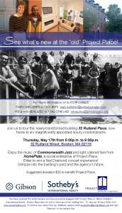 Boston Events, Project Place, 32 Rutland Street, Boston Real Estate, Boston Charities