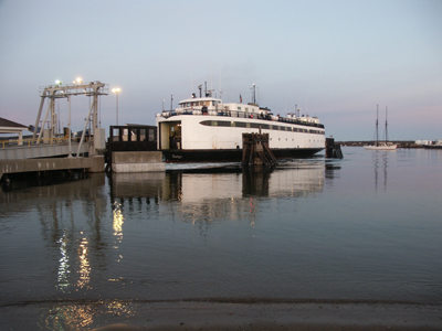 Ferry docking in Vineyard Haven Martha's Vineyard