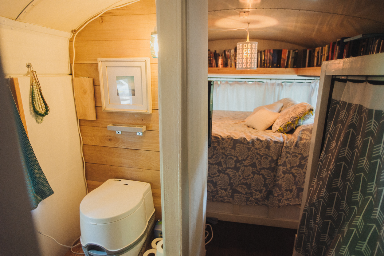 The WC, bedroom and closet