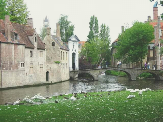Bruges. It's quiet,  quaint AND full of breweries