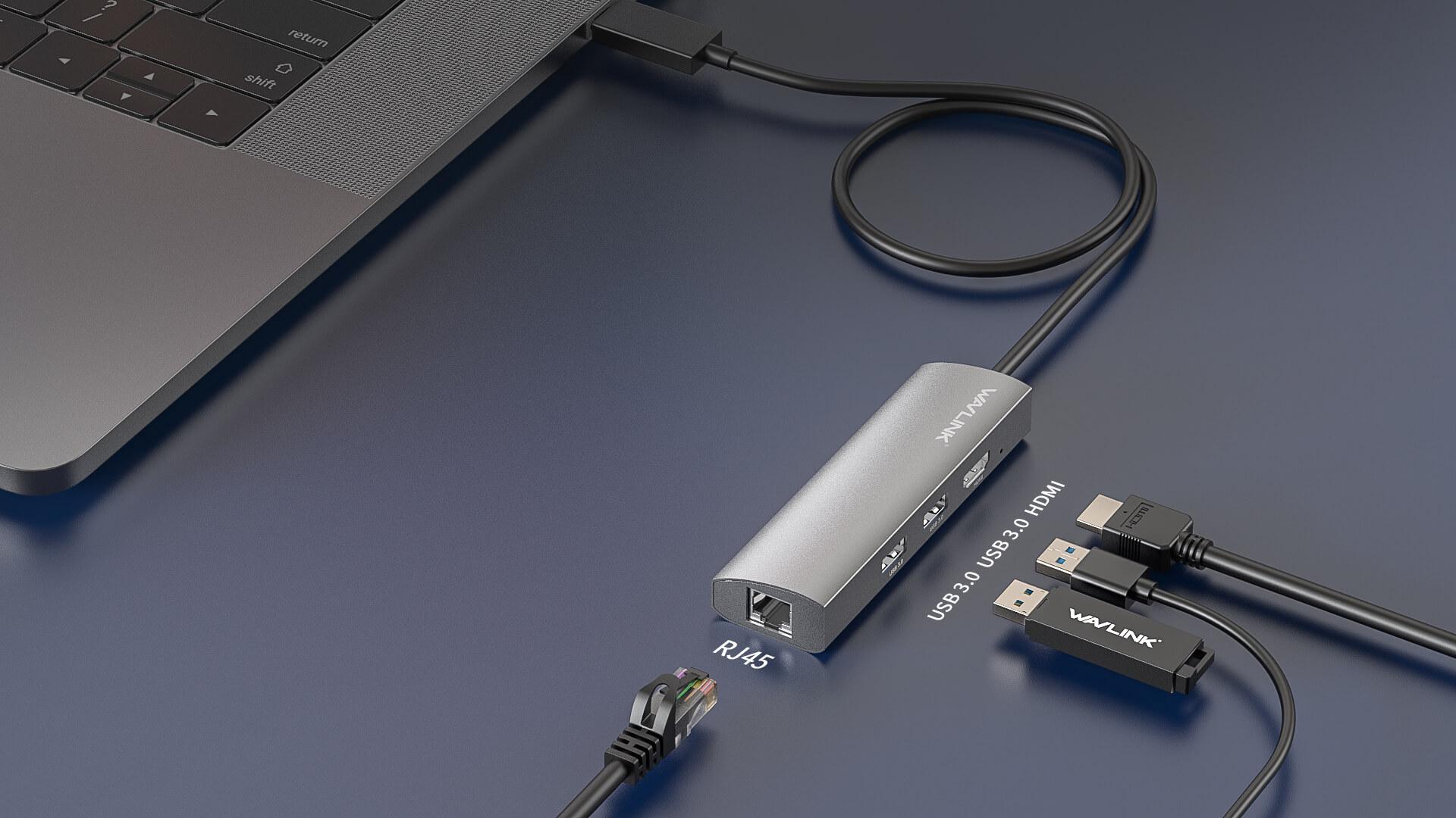 WAVLINK USB-C 3.1 TRAVELLING MINI DOCK WITH GIGABIT ETHERNET pc2 5