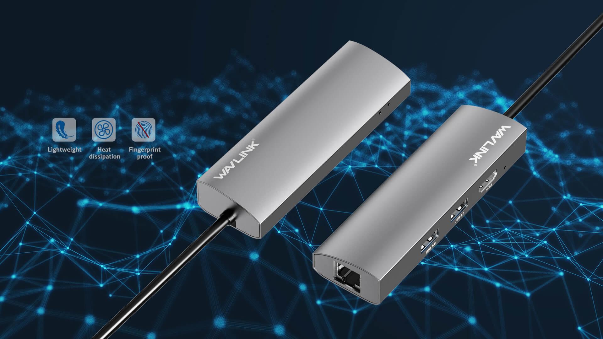 WAVLINK USB-C 3.1 TRAVELLING MINI DOCK WITH GIGABIT ETHERNET pc4 7