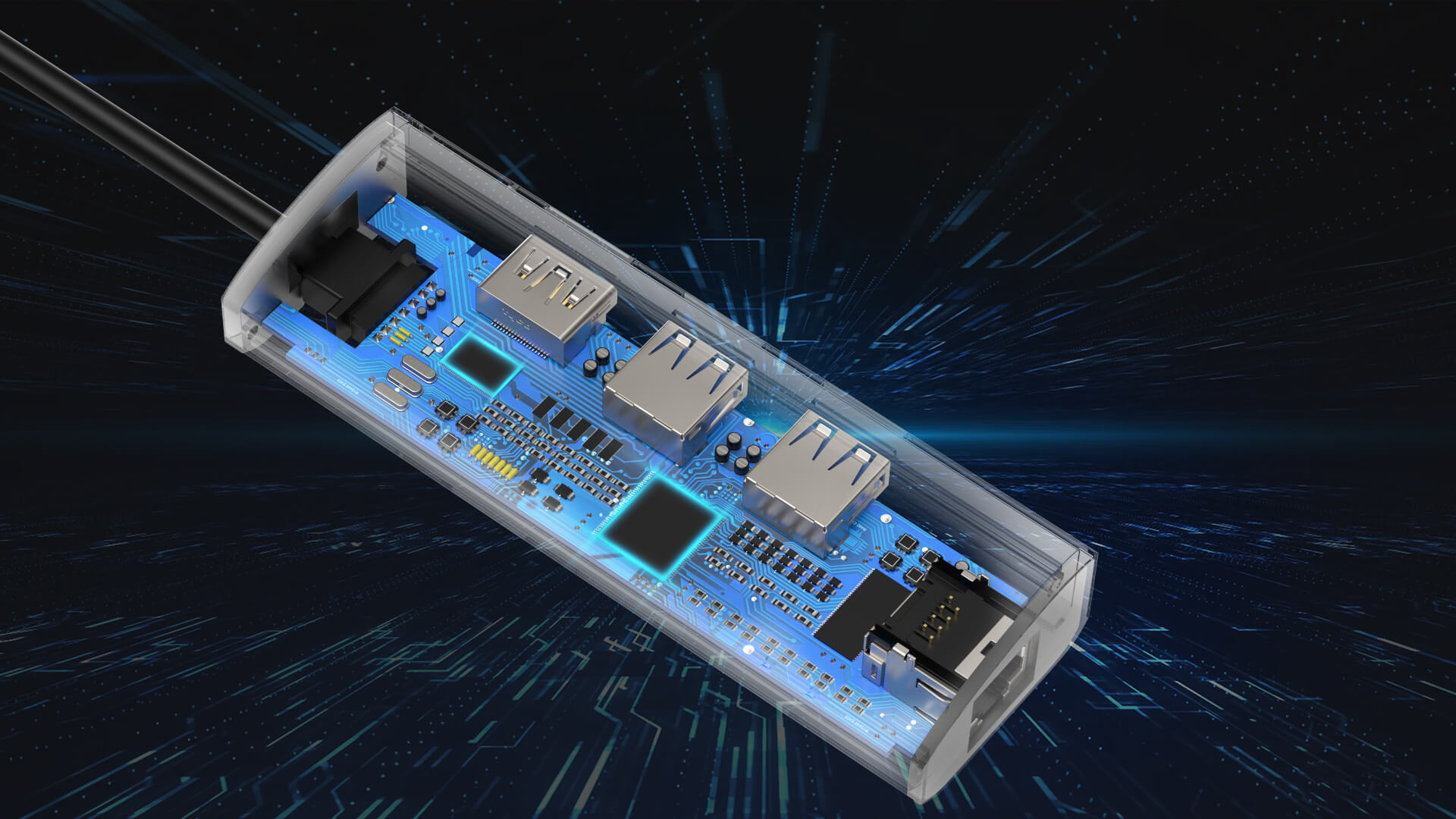 WAVLINK USB-C 3.1 TRAVELLING MINI DOCK WITH GIGABIT ETHERNET pc6 9