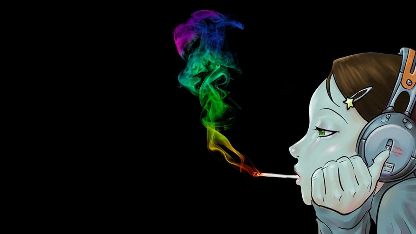 Anime Characters Smoking Weed : Trippy stoner art