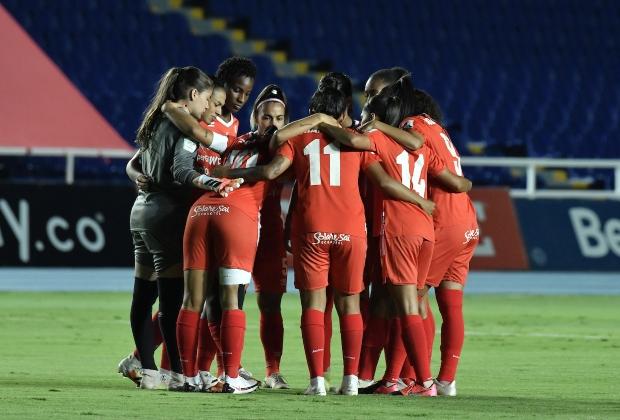 América se despidió de la Copa Libertadores Femenina   Foto: VizzorImage / Gabriel Aponte