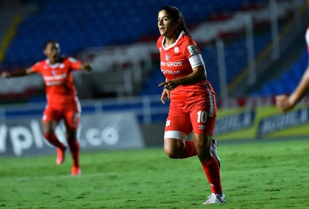 Catalina Usme lamentó no haber logrado el título de la Libertadores Femenina   Foto VizzorImage