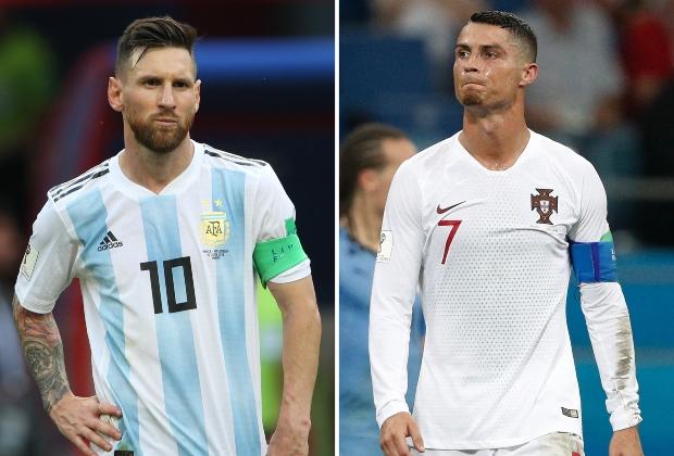 Messi y Cristiano con sus selecciones - Foto AFP