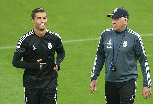Ancelotti negó la posibilidad del fichaje de Cristiano. / Foto: AFP