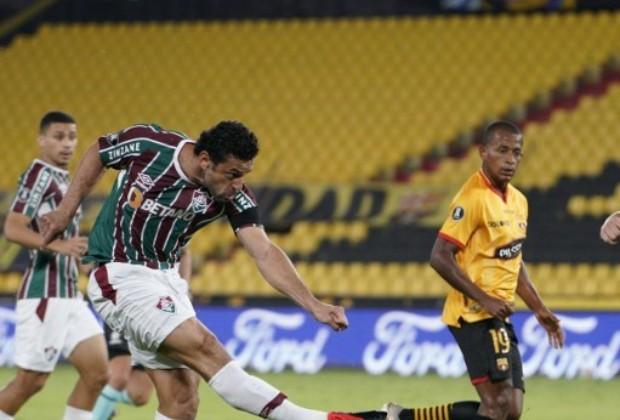 Fred, goleador de Fluminense/ AFP