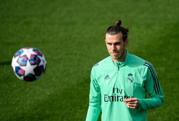Bale en entreno con Real Madrid / Foto AFP