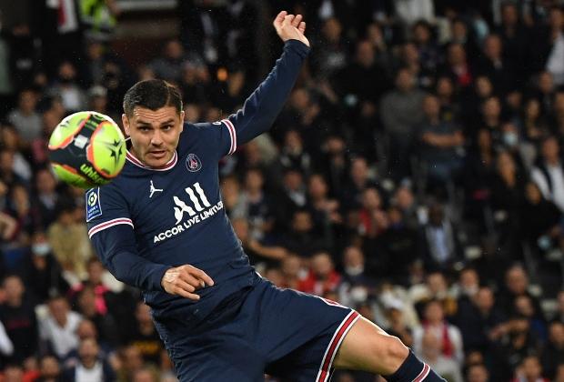 Momento del gol de Icardi ante Lyon / Foto AFP