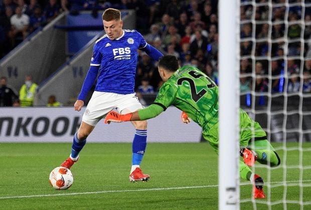 Ospina en juego ante Leicester en Europa League / Foto AFP