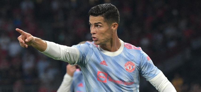 Cristiano adelantó a Manchester United. / Foto: AFP