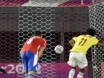 Penal marcado por Cuadrado/ AFP