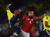 Vidal recibió la amarilla/ AFP