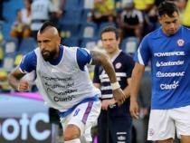 Vidal fue titular en Chile/ AFP