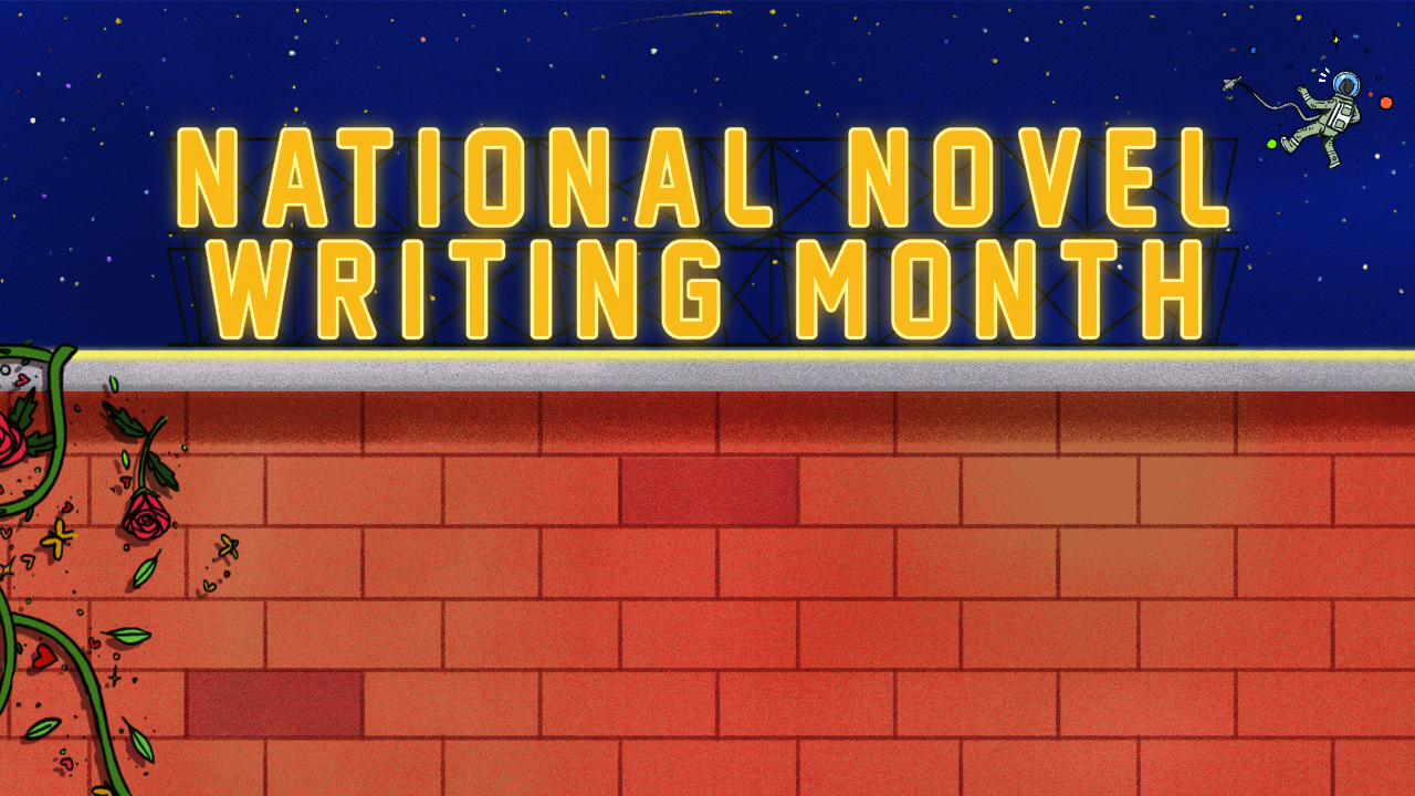 """""""National Novel Writing Month"""" - Zoom Background - Design by Tyrell Waiters"""