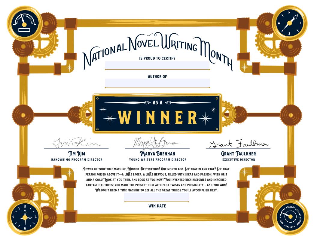 Winner's Certificate 2019