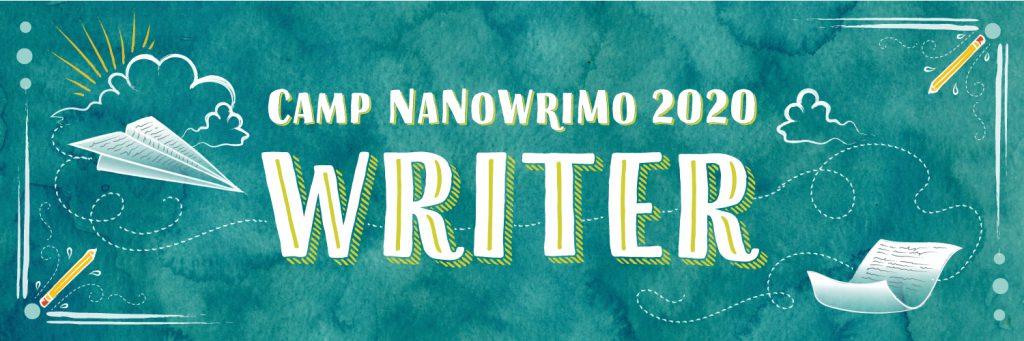 Camp NaNoWriMo 2020 - Writer - Twitter Header