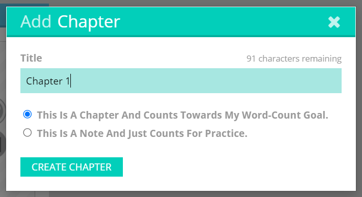 Note or chapter