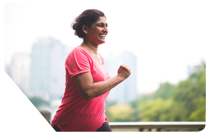 woman running after lifestyle coaching therapy