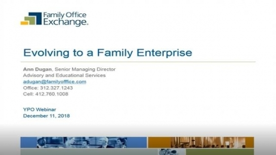 GCC: Evolving to a Family Enterprise