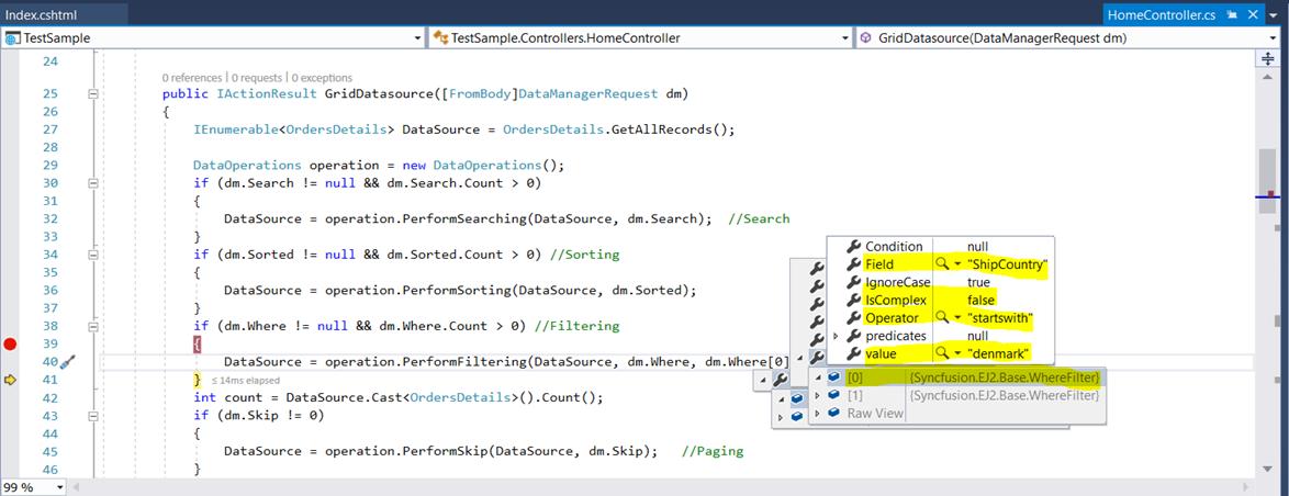 Web (Essential JS2), ASP NET Core Razor Pages, Grid, UrlAdaptor