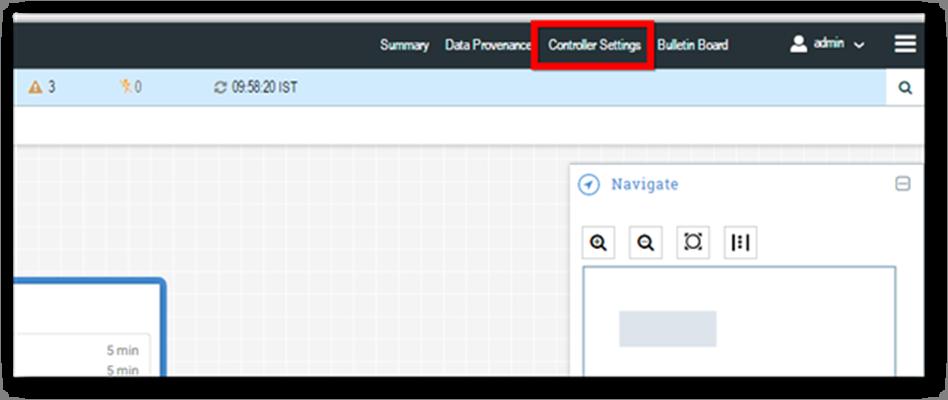 Controller Settings option