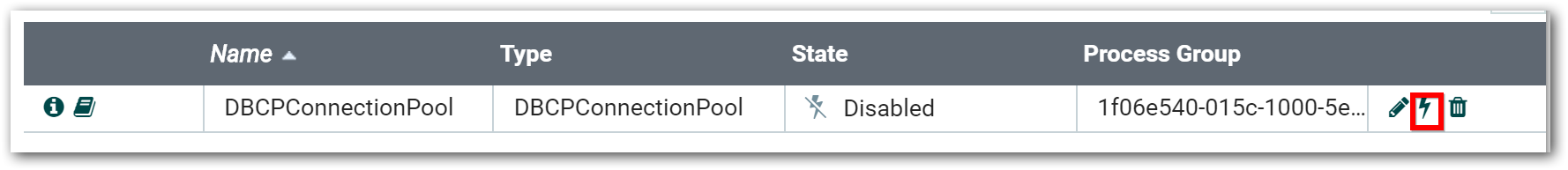 Enable button icon