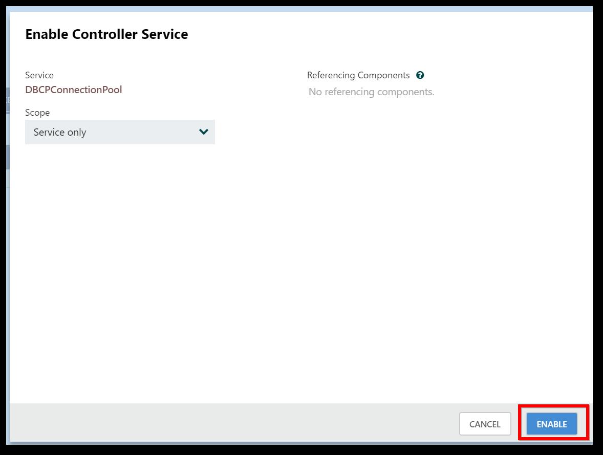 Enable Controller Service dialog