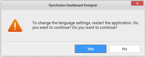 click yes to change the language