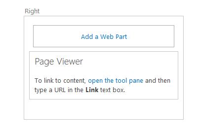 Click the add Web Part