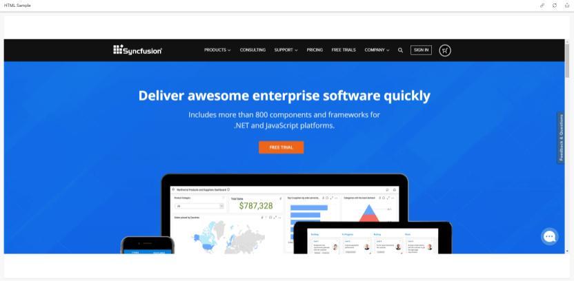 Embedded Webpage displayed in Viewer