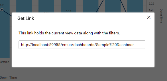 Removed the copy button in Get link window