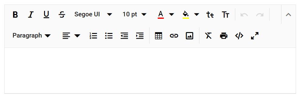 RTE toolbar