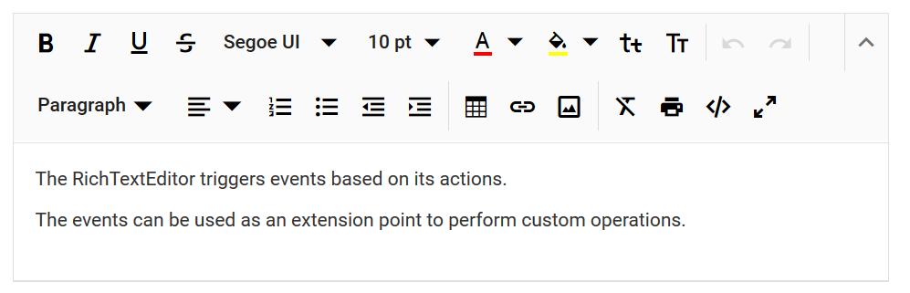Adding content for RTE