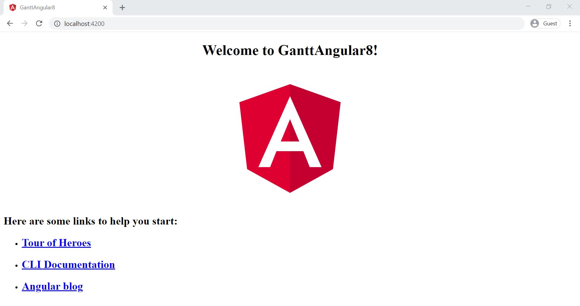 Angular 8 Application
