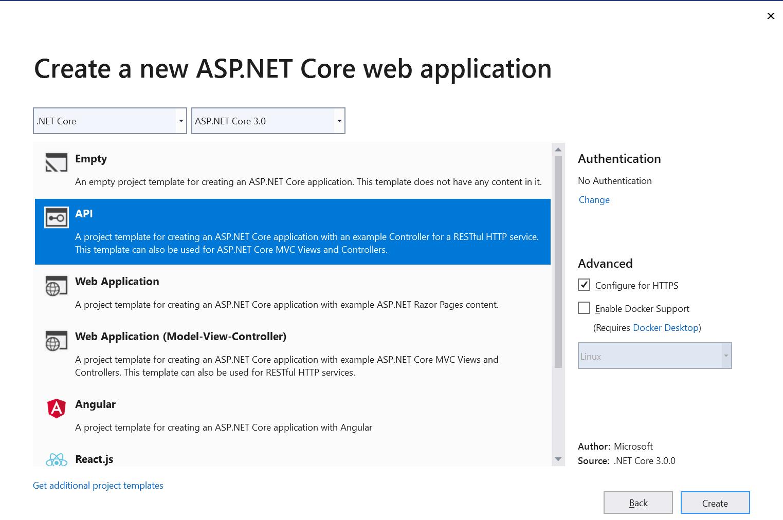Create web application