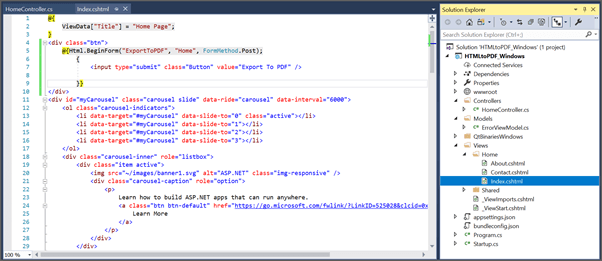 Add Button in html page