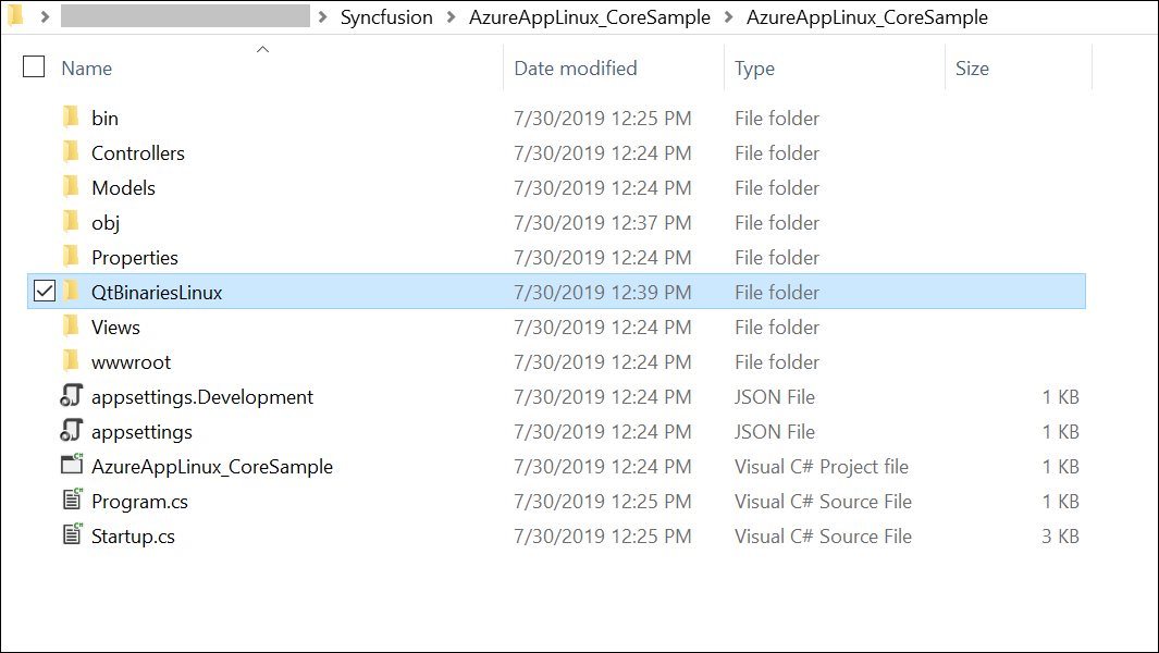 Paste the QtBinariesLinux folder to the project folder.