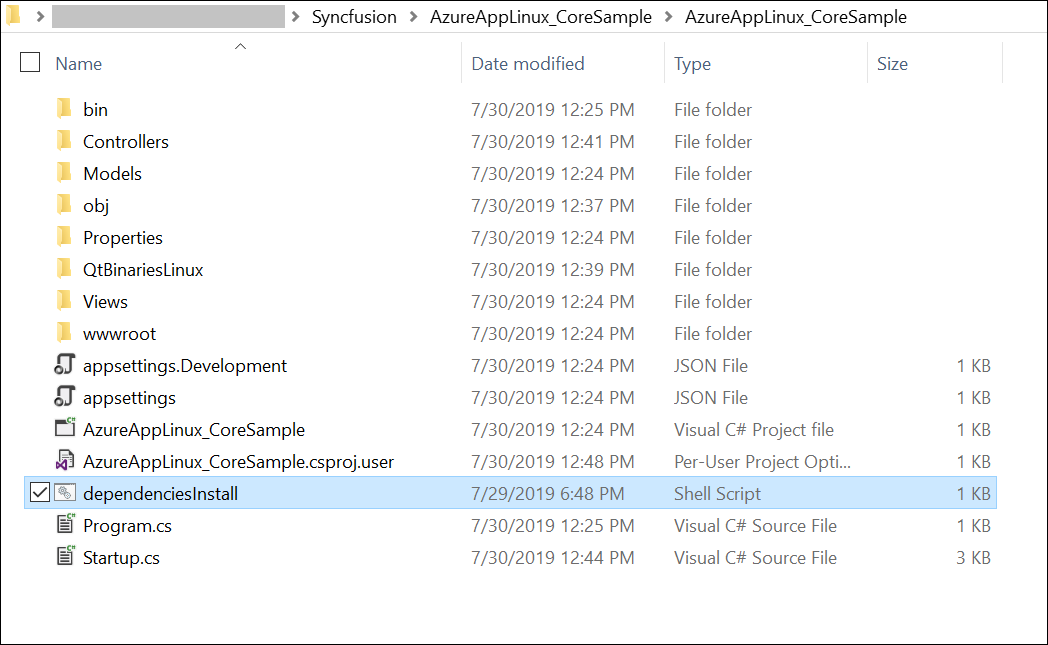 Include dependencies packages shell to project location.
