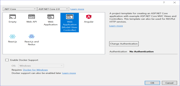 Select Web application(Model-View-Controller)