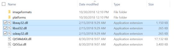 copy Openssl assemblies into binaries folder