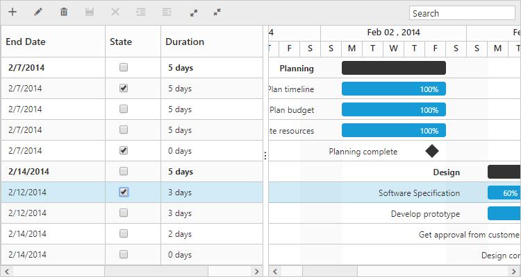 Add custom column with check box.