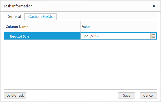 Customize the custom fields tab of edit dialog window.