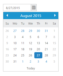 DatePicker control with weekend dates disabled
