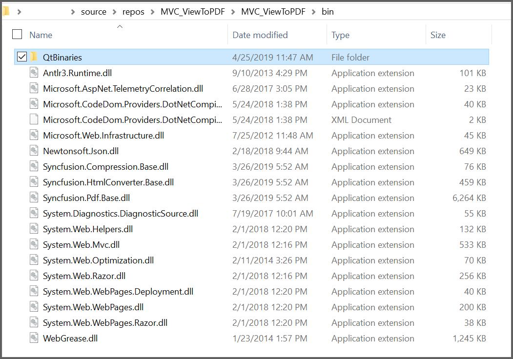 Paste the QtBinaries into the bin folder