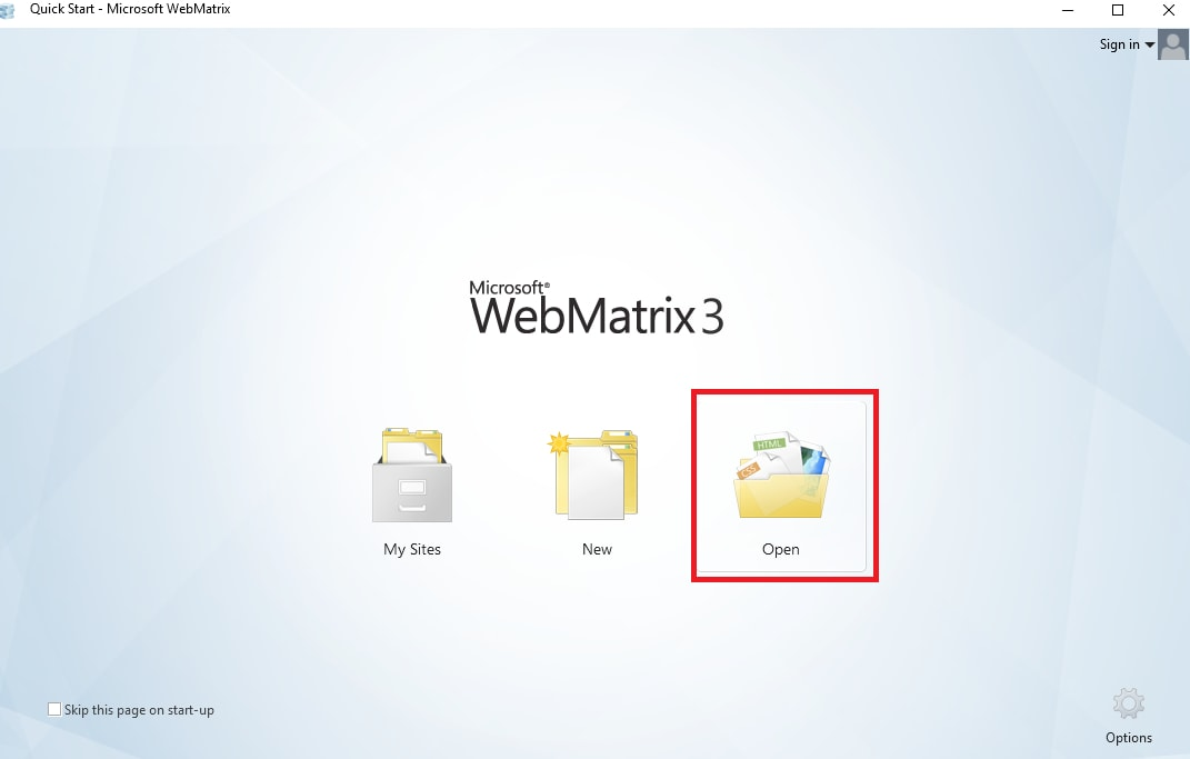 WebMatrix 3