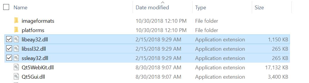 Screenshot for copy assemblies into QtBinariesDotNetCore.